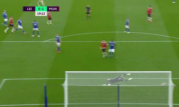 Premier League: Απίθανη οβίδα του Γκρίνγουντ και Λέστερ-Μάντσεστερ Γιουνάιτεντ 0-1 (video+photos)