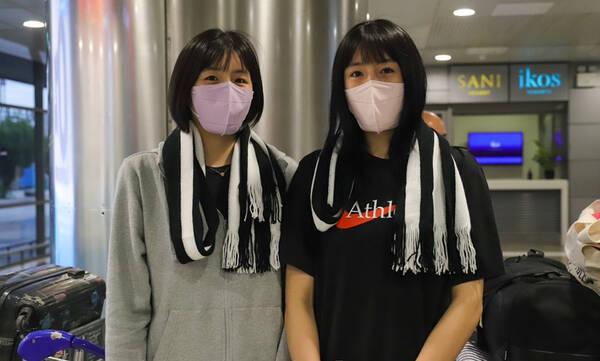 ΠΑΟΚ: Προσγειώθηκαν στην Θεσσαλονίκη οι δίδυμες Κορεάτισσες, αδερφές Λι