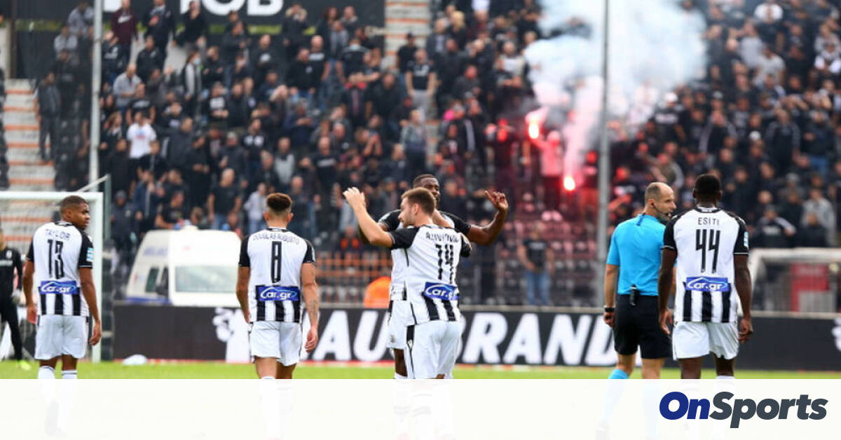 PAOK-Volos: 0-1 to 4-1 by Van Weert – Outbreak … tipping in Toumba (photos)