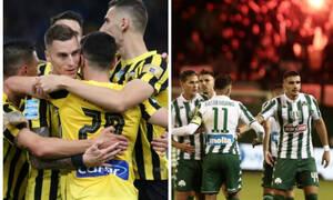 Super League: Σε απολογία ΑΕΚ και Παναθηναϊκός - Δεν κινδυνεύουν με ποινή έδρας (photos+video)