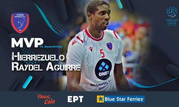 Volley League:MVP της Πρεμιέρας ο Κουβανός «μαέστρος» του Φοίνικα, Ιερεθουέλο Ρέιντελ Αγκίρε (video)