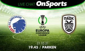 Live Chat Κοπεγχάγη-ΠΑΟΚ 0-2