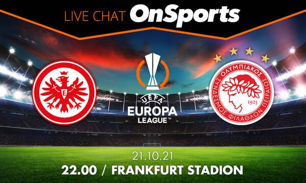 Live Chat Άιντραχτ Φρανκφούρτης-Ολυμπιακός 3-1 (Τελικό)
