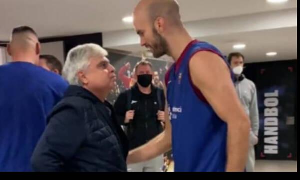 Euroleague: Συναντήθηκαν Καλάθης-Παπαδόπουλος στη Βαρκελώνη (video)
