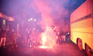 ΑΕΚ: Θερμή υποδοχή της αποστολής στην Πορταριά (videos)
