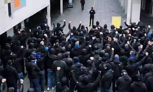 Αστυνομικός έβγαλε όπλο σε οπαδούς στο ντέρμπι Μπρόντμπι-Κοπεγχάγη! (video)